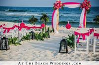 Custom Bamboo with walkway Pink Chair Sashes