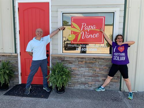 You'll always get a friendly Italian welcome at Papa Vince.