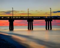 Incredible sunrise over Gulf State Pier