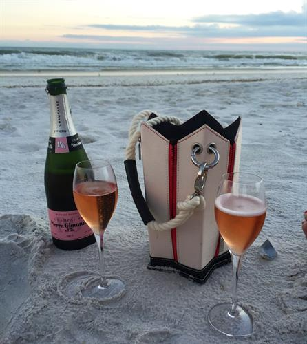 Champagne sunset, anyone?