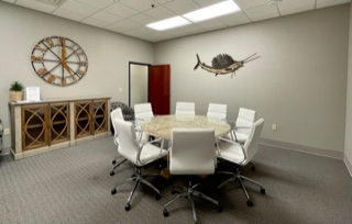 Spacious conference room for meeting with clients