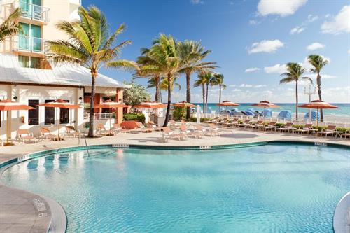 Outdoor, beachfront pool