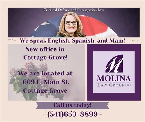 Molina Law Group  - office in Cottage Grove, Oregon