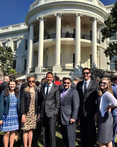 The ScoutComms team at the White House with client Wounded Warrior Project in April 2015