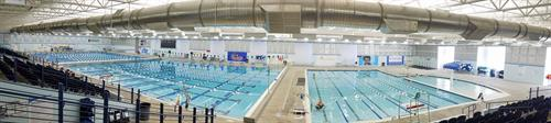 View of Recreation Pool, Splash Pad, and Competition Pool