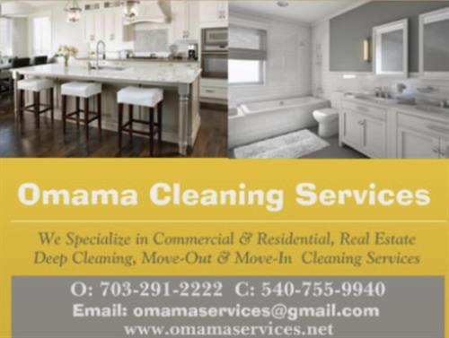 List of Services offered, Omama Cleaning Services