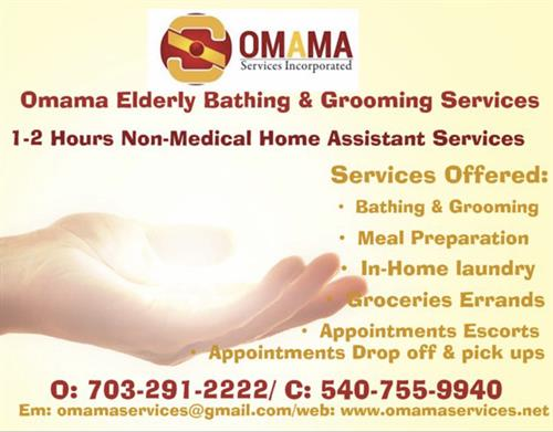 List of Services, Omama Elderly Bathing & Grooming Services