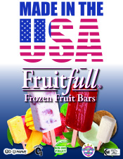 Fruitfull frozen fruit bars are always made in the USA!
