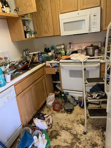 Kitchen Cleanup Before