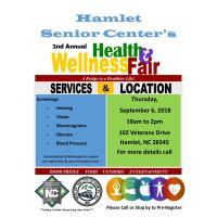 Hamlet Senior Center Health & Wellness Fair