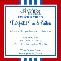 Ribbon Cutting & Connections After Five - Fairfield Inn & Suites