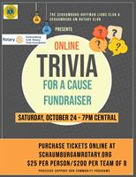Online Trivia for a Cause Fundraiser