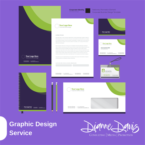 Graphic Design Services for Letterhead, Brochures, Flyers, Business Cards and More
