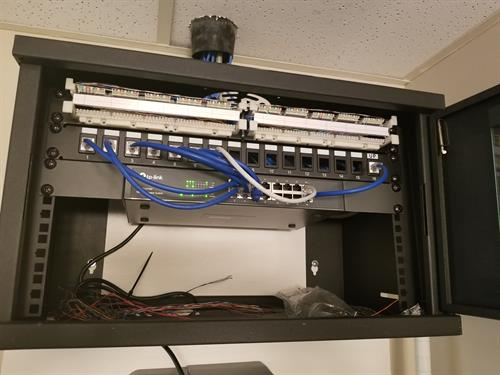 Small Network and Telephone Cabinet