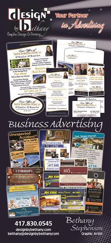 Business Advertising Graphic Design & Printing Services