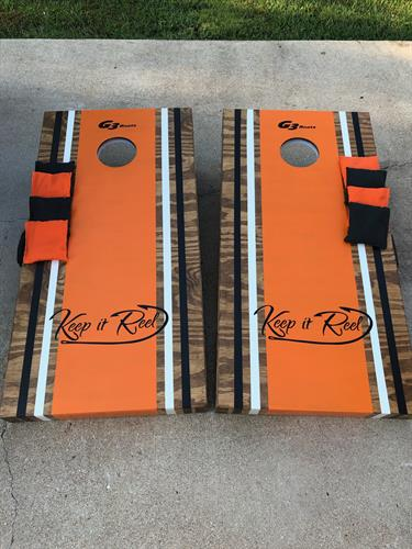 Custom set of Elite Boards with LED multi-colored lights and plain bags for local boat manufacturer