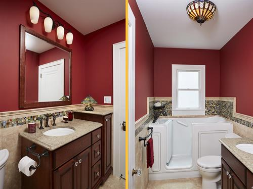 CAPS certified bath remodel for seniors