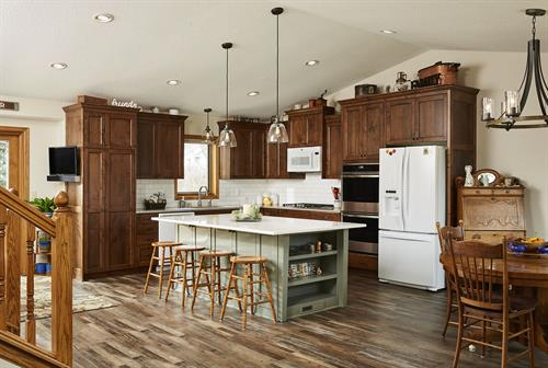 Traditional meets modern kitchen remodel