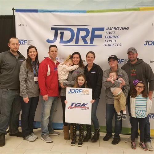 TGK gives to JDRF