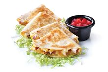 Quesadillas with Cheese, Chicken or Steak options