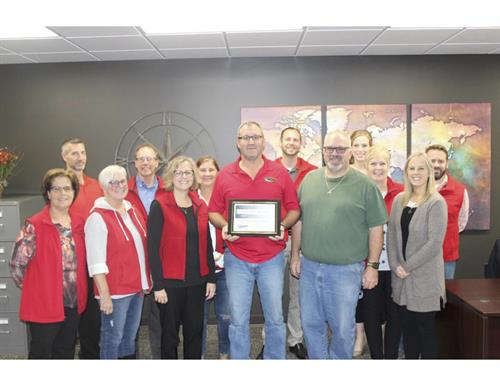 Chamber Progress Award October 2019 - New building after fire