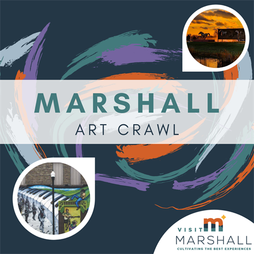 Experience Marshall's art - all over town! Visit our website for more information on the Marshall Art Crawl.