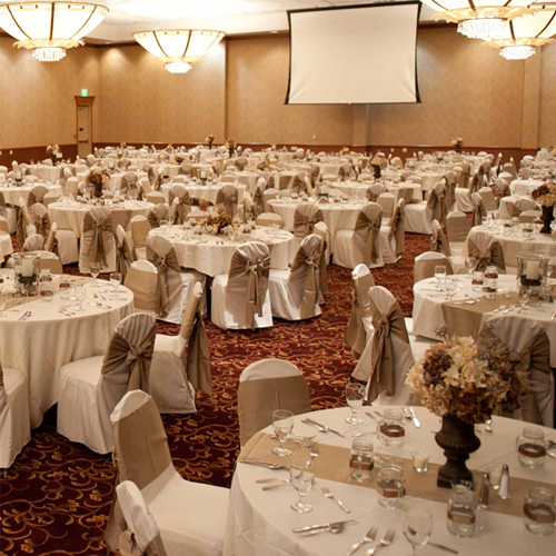 Wedding and banquet rental space in the convention center at Prairie's Edge Casino Resort
