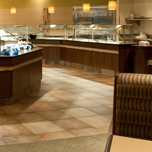 Buffet restaurant area at Prairie's Edge Casino Resort
