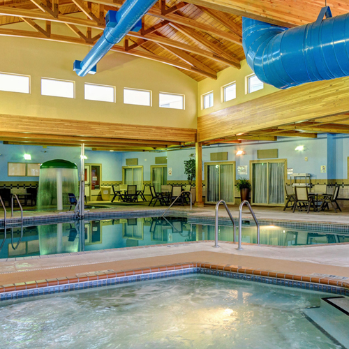 Indoor pool in the hotel at Prairie's Edge Casino Resort