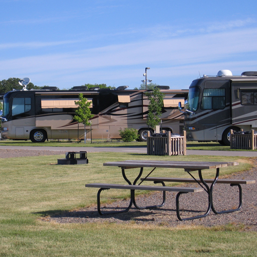 RV park and campground at Prairie's Edge Casino Resort