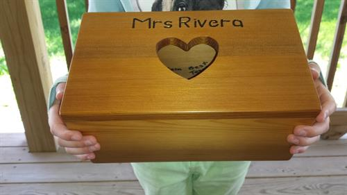 Kleenex box cover for favorite 2nd grade teacher