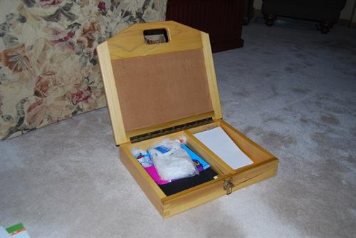 Child lap desk, inside