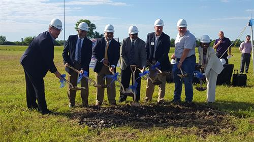 Ground Breaking for new Hampton Inn and Conference Center