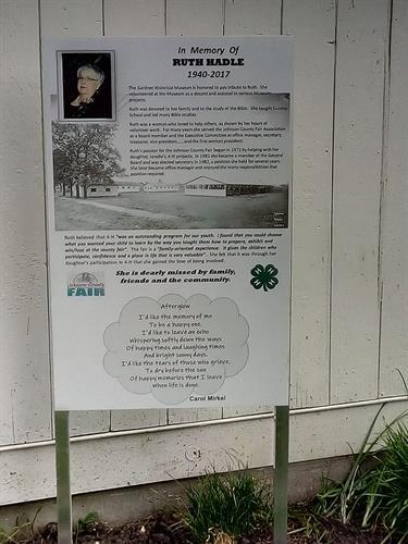 Ruth Hadle Memorial