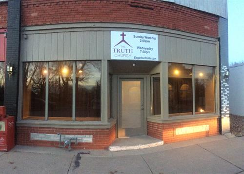 Our current building in down town Edgerton!