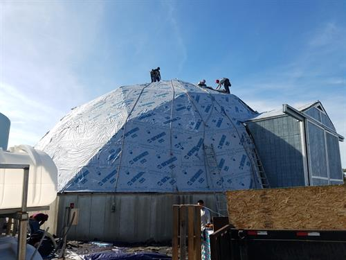 Salt Dome Re-Roof