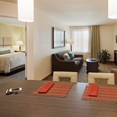 Relax in our One Bedroom Suite with Living Room and Full Kitchen