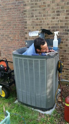 Andersen Heating & Cooling - Cleaning Detail