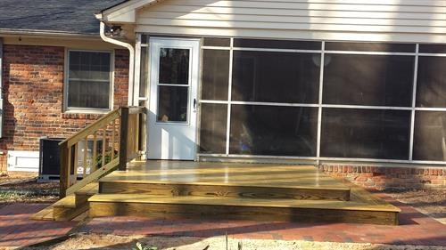 New Deck, Stairs, Surround, Patio Door Framing and Door