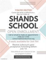 Shands School  Open Enrollment