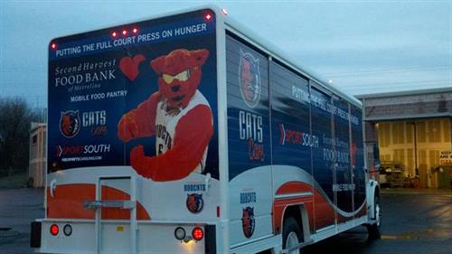 Vehicle wrap for the Charlotte Bobcats