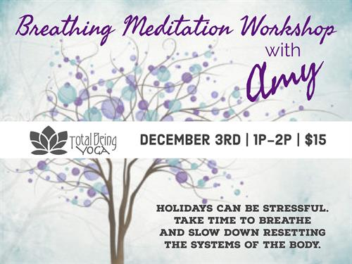 Breathing Workshop Dec. 3