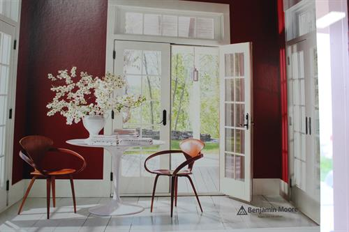 Benjamin Moore 2018 Color of the Year -- Caliente Red
