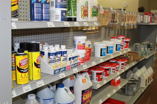 Our aisles are filled with everything you need for your painting or finishing job.