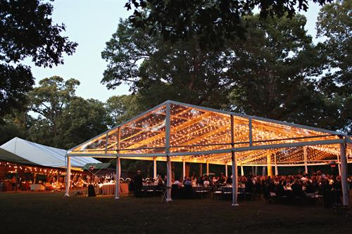 Tented reception featuring a structure tent