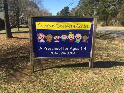 Children's Discovery Street Sign