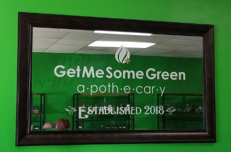Get Me Some Green Frosted Vinyl Mirror