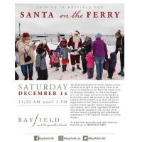 Santa Arrives on the Ferry - Bayfield