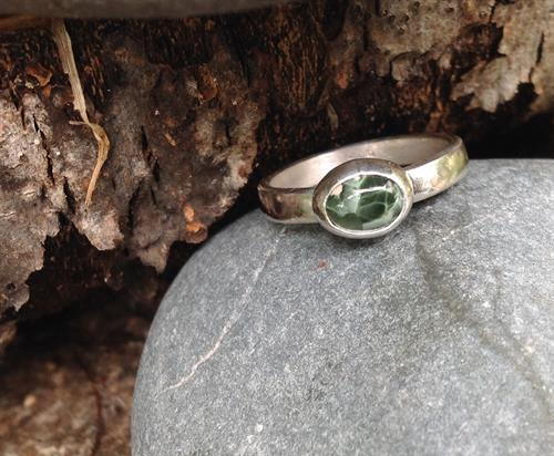 Greenstone engagement ring.