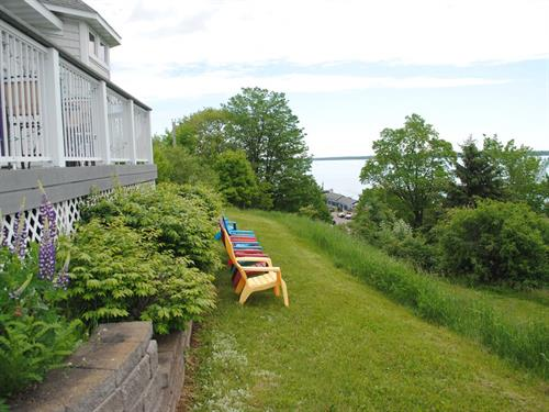 The Pilot House B&B is located at the corner of First Street & Washington Ave in Bayfield.